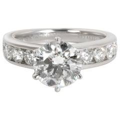 Tiffany & Co. Channel Set Diamond Engagement Ring in Platinum F VS1 2.50 Carat