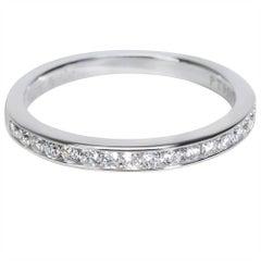 Tiffany & Co. Channel Set Diamond Wedding Band in Platinum 0.24 Carat