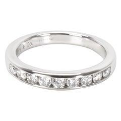 Tiffany & Co. Channel Set Diamond Wedding Band in Platinum '0.24 CTW'