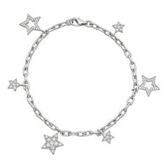 Tiffany & Co. Charm Bracelet 1.48 Carat of Diamonds