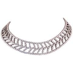 Tiffany & Co. Chevron Diamond Necklace