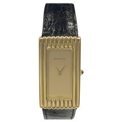 Tiffany & Co. Chopard Over Sized Yellow Gold Mechanical Wristwatch