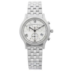 Tiffany & Co. Chronograph Stainless Steel White Dial Vintage Men's Watch