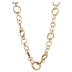 Tiffany & Co. Circle Link Chain Necklace in 18 Karat Yellow Gold