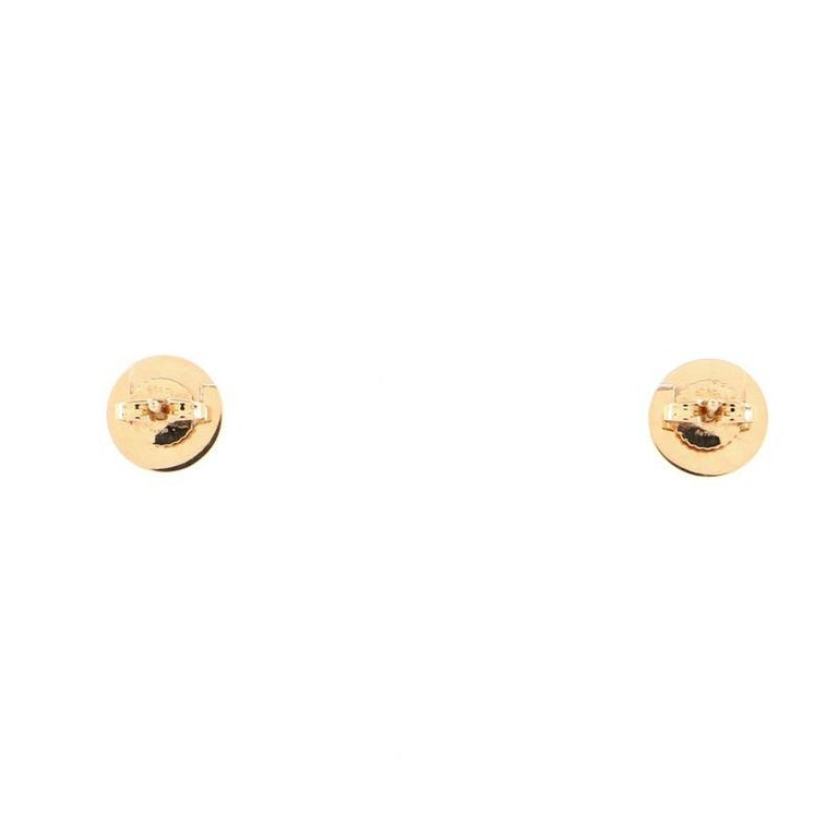 Tiffany & Co. Circle Stud Earrings 18K Rose Gold and Mother of Pearl In Good Condition For Sale In New York, NY