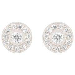 Tiffany & Co. 'Circlet' 0.53 Carat Diamond Halo Earrings