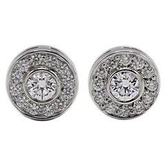 Tiffany & Co. Circlet .25 Carat Platinum Diamond Stud Earrings