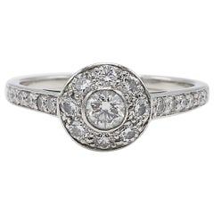 Tiffany & Co. Circlet Collection Platinum Diamond Engagement Ring