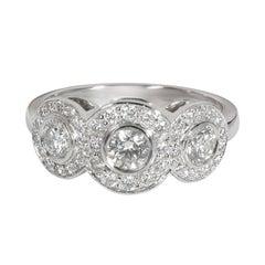 Tiffany & Co. Circlet Diamond Ring in Platinum 0.65 CTW