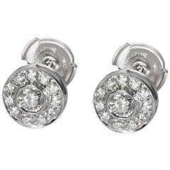Tiffany & Co. Circlet Diamond Stud Earring in Platinum 0.75 Carat
