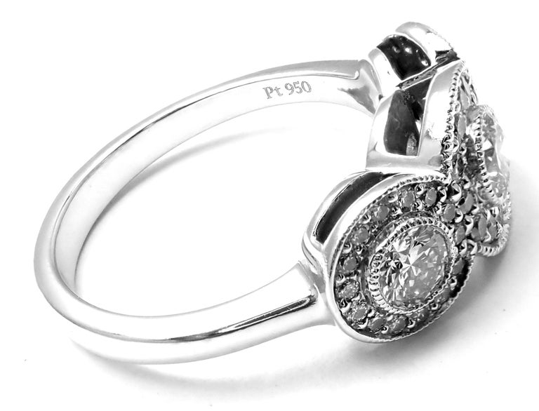 Tiffany & Co. Circlet Platinum Diamond Band Ring.   With Round brilliant cut diamonds total weight approx. .55CT VS1 clarity, G color Measurements:   Ring Size: 5 Weight: 5.4 grams   Width: 8mm  Stamped Hallmarks: Tiffany&Co PT950   ***Free shipping