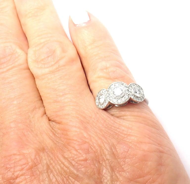 Tiffany & Co. Circlet Platinum Diamond Band Ring For Sale 2