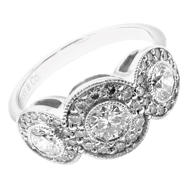 Tiffany & Co. Circlet Platinum Diamond Band Ring For Sale