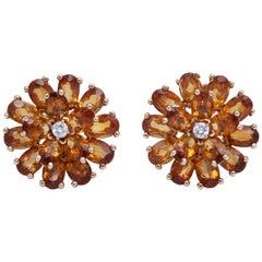 Tiffany & Co. Citrine and Diamond Earrings