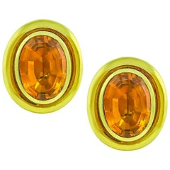 Tiffany & Co. Citrine Yellow Gold Earrings