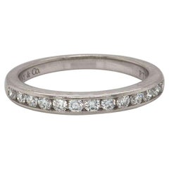 Tiffany & Co. Classic 0.24 CTW Diamond Channel Set Band in Platinum