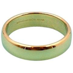 Tiffany & Co. Klassischer 18 Karat Gelbgold Hochzeit Bandring