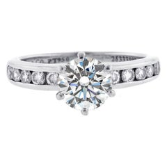 Tiffany & Co. Classic Diamond Solitaire Engagement Band-Ring Set