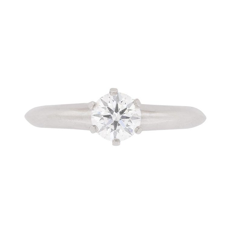 dd5b2dad7 Tiffany and Co. Classic Diamond Solitaire Engagement Ring For Sale ...