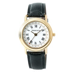 Tiffany & Co. Classic M193 With 7.5 mm Band, Yellow-Gold Bezel & White Dial