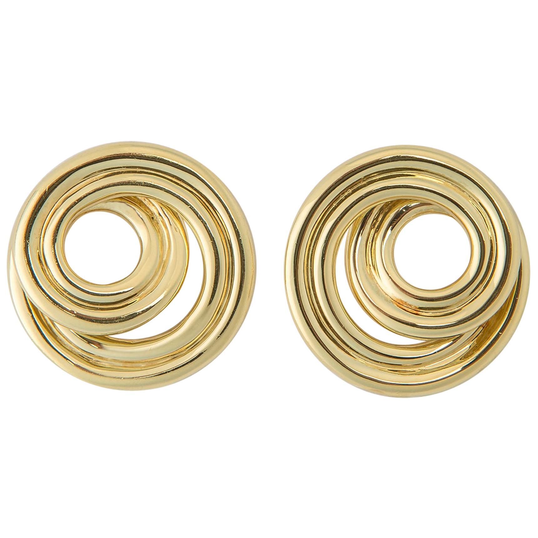 Tiffany & Co. Classic Swirl Gold Earrings