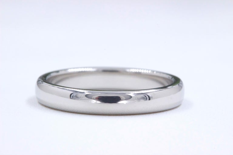 Tiffany & Co  Style:  Classic Wedding Band Ring Width:  3 MM Metal:  Platinum PT950 Size:  5 - sizable Hallmark:  ©TIFFANY&CO.PT950 Includes:  T&C Pouch  Retail Value:  $1,150