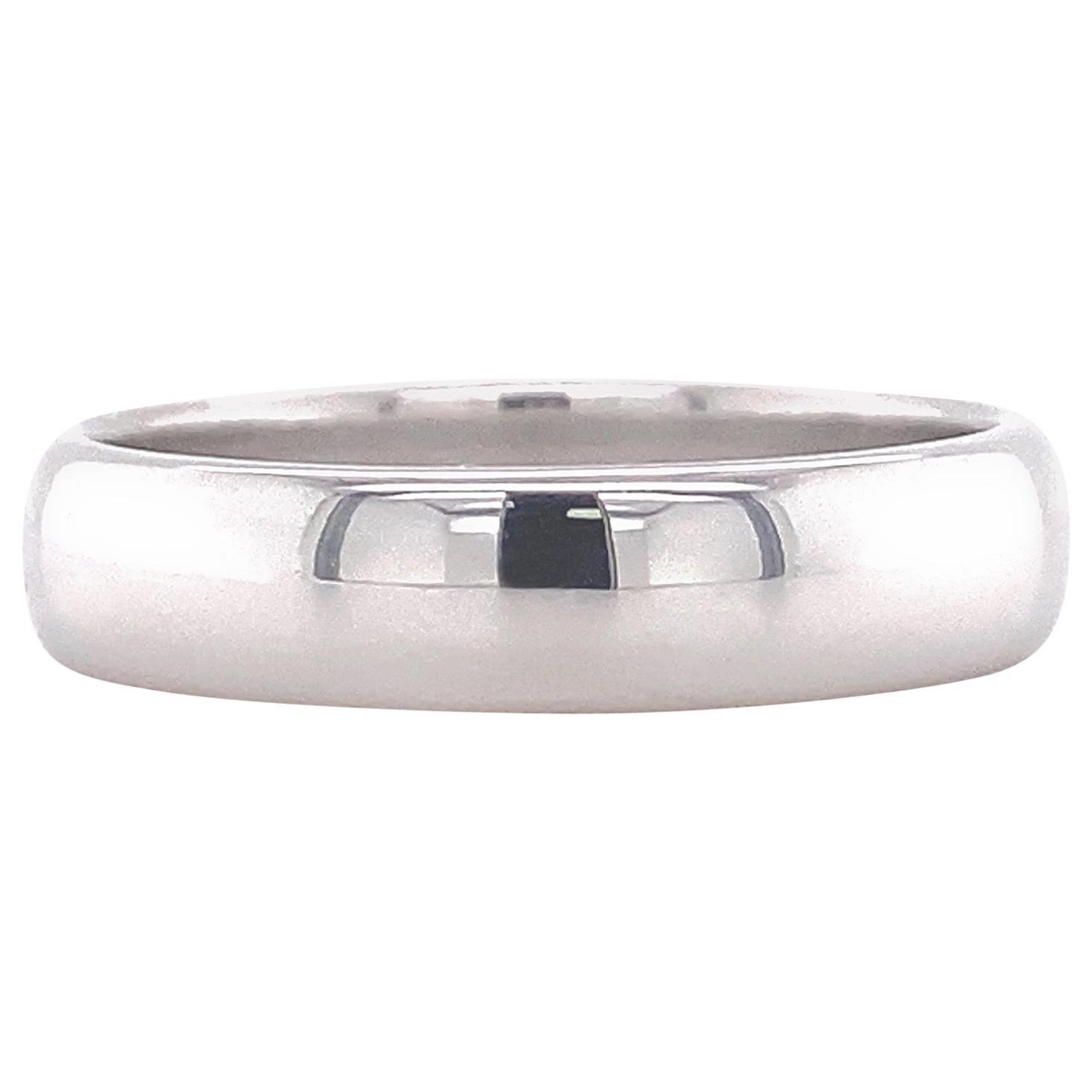 Tiffany & Co. Classic Wedding Band Ring Platinum