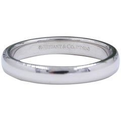 Tiffany & Co. Classic Wedding Band Ring Platinum