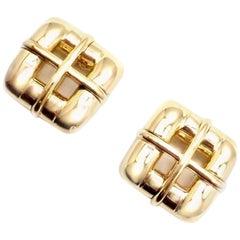 Tiffany & Co. Classic Yellow Gold Earrings