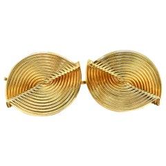 Tiffany & Co. Clip-On Earrings 14 Karat Yellow Gold