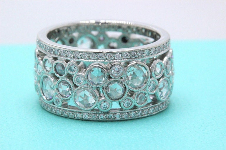 38a429142 Tiffany & Co. Style: Cobblestone Diamond Band Ring Metal: Platinum Width: 10