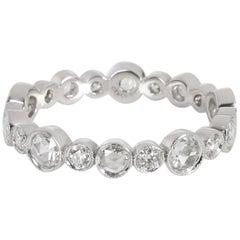 Tiffany & Co. Cobblestone Diamond Band in Platinum 0.74 Carat