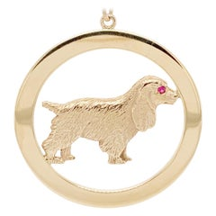 Tiffany & Co. Cocker Spaniel Gold Charm