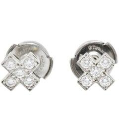 Tiffany & Co. Contemporary 0.30 Carat Diamond Platinum Cruciform Earrings
