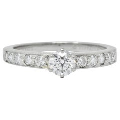 Tiffany & Co. Contemporary 0.48 Carat Diamond Platinum Engagement Ring