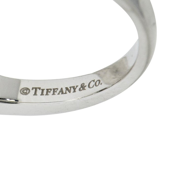Tiffany & Co. Contemporary 1.00 Carat Diamond Platinum Three-Stone Circlet Ring For Sale 2