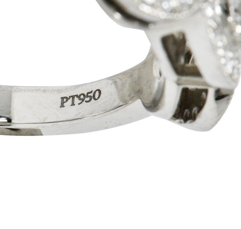 Tiffany & Co. Contemporary 1.00 Carat Diamond Platinum Three-Stone Circlet Ring For Sale 3