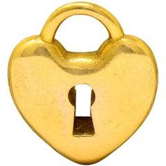 Tiffany & Co. Contemporary 18 Karat Gold Heart Padlock Tiffany Hearts Charm