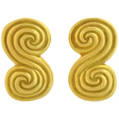 Tiffany & Co. Contemporary Double Spiral Clip-On Earrings