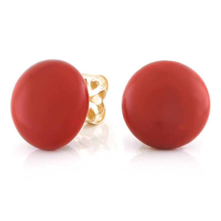 Tiffany & Co. Coral Earrings For Sale 2