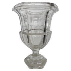 Tiffany & Co. Crystal Vase of Campana Form