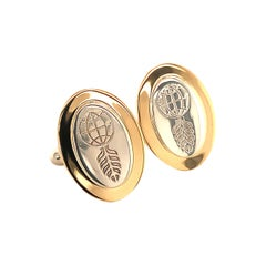 Tiffany & Co. Cufflinks 18k Gold and Sterling Silver 925