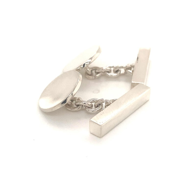Tiffany & Co. Estate Cufflinks Sterling Silver 925 10.9 Grams 7