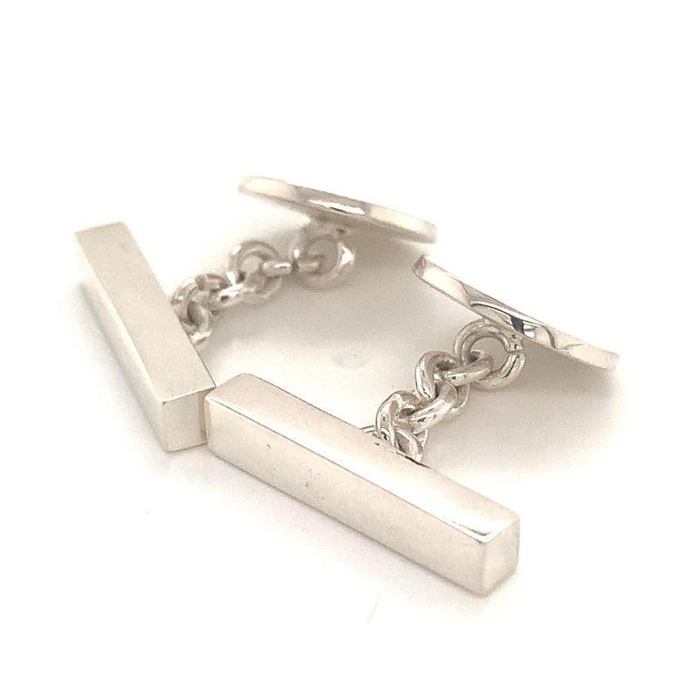 Tiffany & Co. Estate Cufflinks Sterling Silver 925 10.9 Grams 8