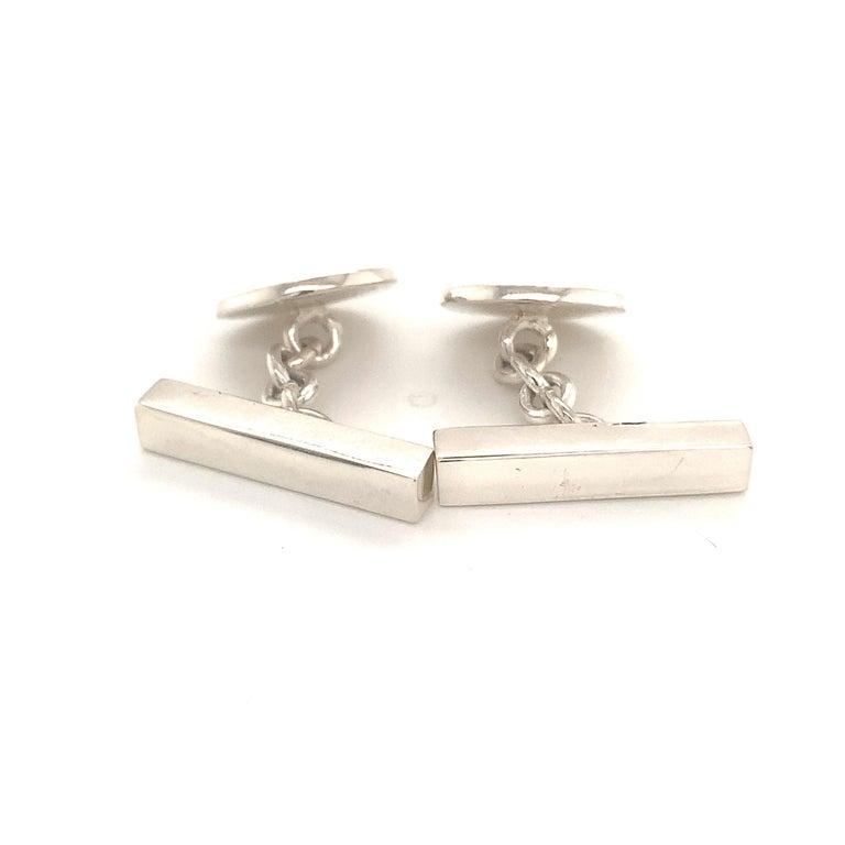 Tiffany & Co. Estate Cufflinks Sterling Silver 925 10.9 Grams 10