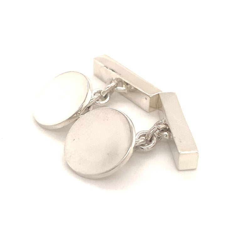 Tiffany & Co. Estate Cufflinks Sterling Silver 925 10.9 Grams In Good Condition In Brooklyn, NY