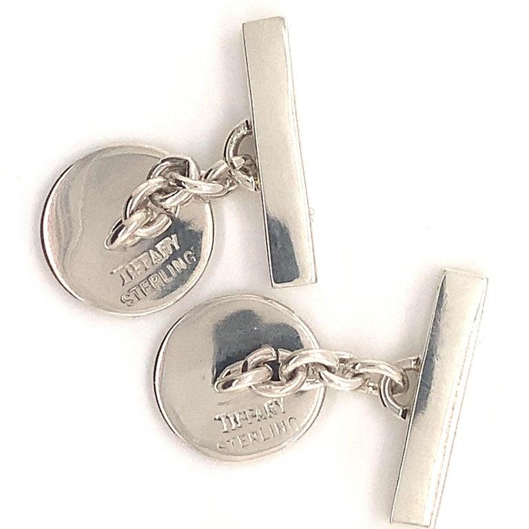 Tiffany & Co. Estate Cufflinks Sterling Silver 925 10.9 Grams 3