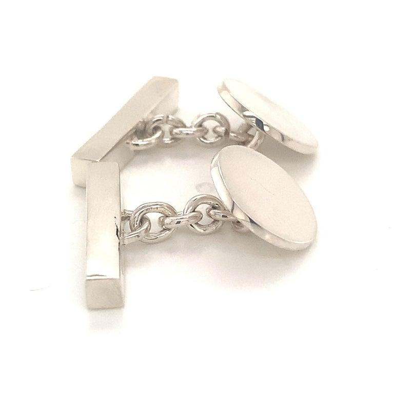 Tiffany & Co. Estate Cufflinks Sterling Silver 925 10.9 Grams 4