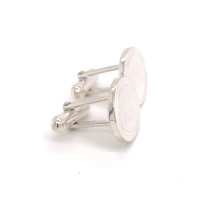Tiffany & Co. Estate Cufflinks with Children Engraving Sterling Silver For Sale 6