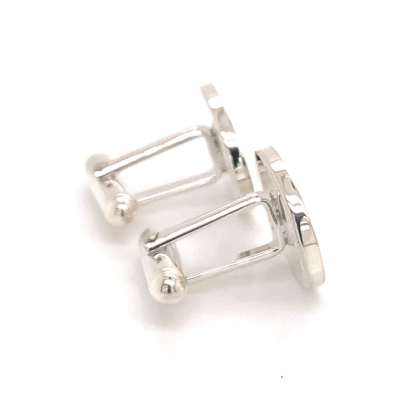 Tiffany & Co. Estate Cufflinks with Children Engraving Sterling Silver For Sale 7